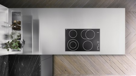Durinox worktop with cut-out for inset hob