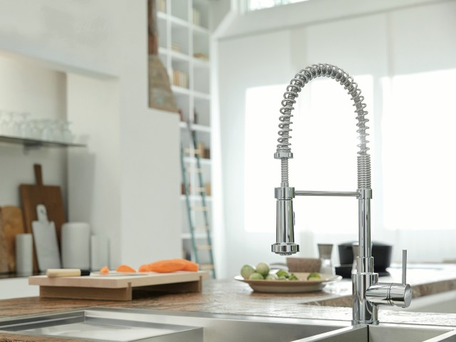 Artona Kitchen Faucet - Dual Finish in SILGRANIT anthracite