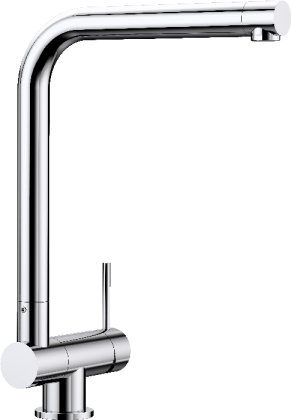 Laressa window-facing mixer tap with control lever on the right