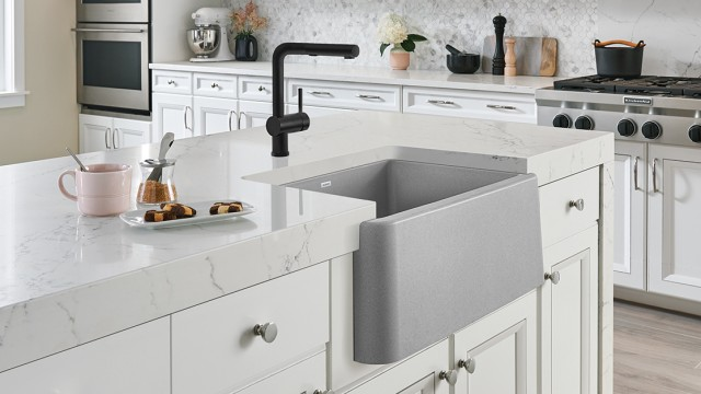 Posh Kitchen Faucet in Full Finish SILGRANIT Anthracite