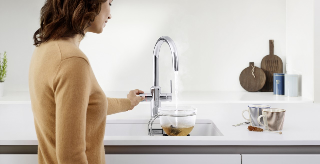 Get hot water directly from the tap with BLANCO TAMPERA Hot