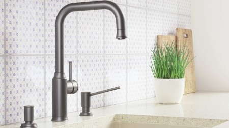 BLANCO soap dispensers come in designs to match the kitchen mixer tap, and can be colour coordinated