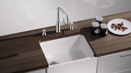 Integrated soap dispenser for washing up at the sink | BLANCO