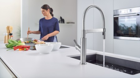 Solenta Senso Kitchen Faucet in Stainless Finish - Full Metal Finishes by BLANCO