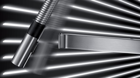 Function - The SOLENTA Senso hands-free kitchen faucet is inspired by professional kitchens.