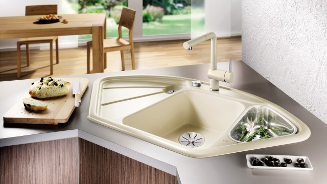 Perfectly cleaned ceramic sink
