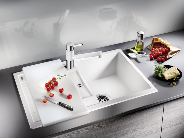 White, whiter, BLANCO METRA: silgranit sinks come in a wide array of colours.