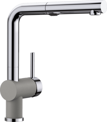 Posh Kitchen Faucet in Truffle/Chrome Dual Finish