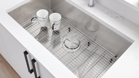 Quatrus U Super Single with Custom Fitted Sink Grid