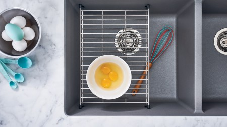 Precis U2 Kitchen Sink and Floating Stainless Steel Grid