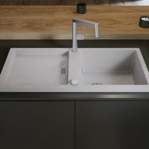 BLANCO ADON blends elegantly into kitchens with an architecture-inspired design.