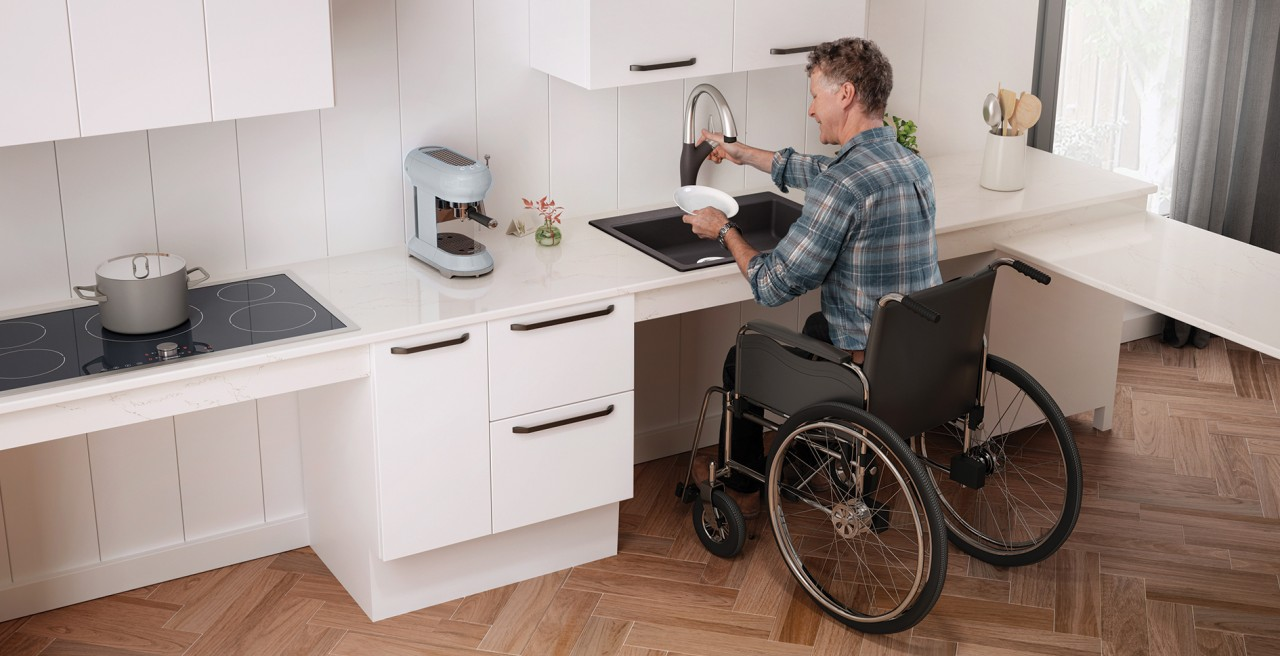 Wheelchair Accessible Precis Single 25 ADA / CSA SILGRANIT Kitchen Sink