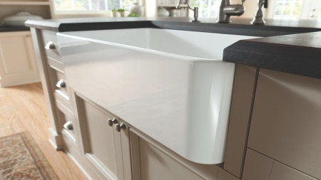 Ceramic kitchen sinks combine the traditional look of fireclay with modern German manufacturing