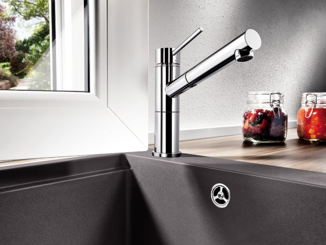 BLANCO ALTA stainless steel mixer tap