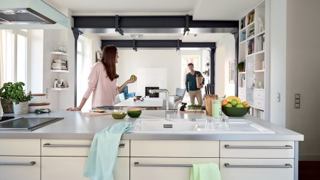Open up the floor plan for a modern kitchen design