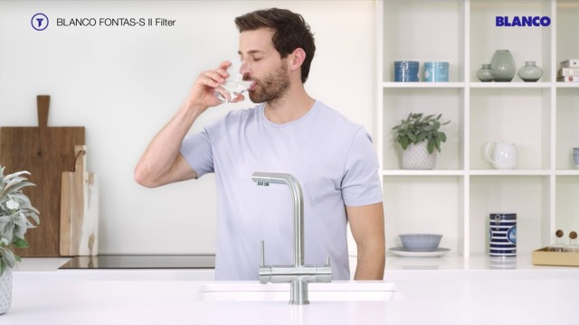 The FONTAS-S II provides you with filtered tap water